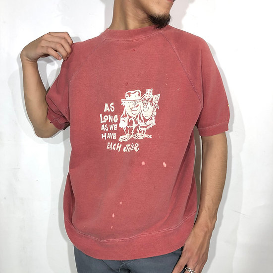 60's short sleeve sweat / fade red