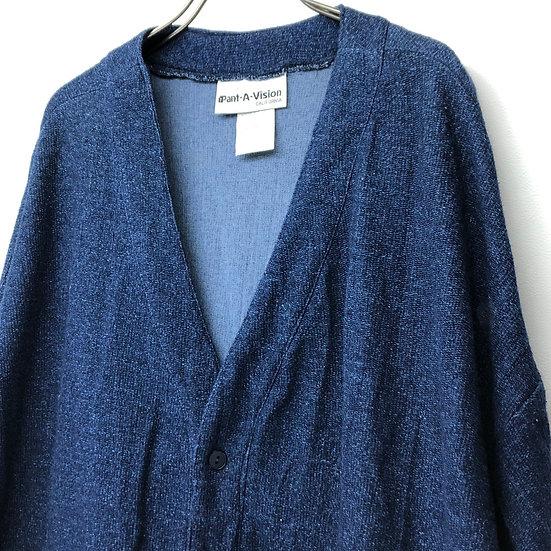 old summer knit coat / indigo