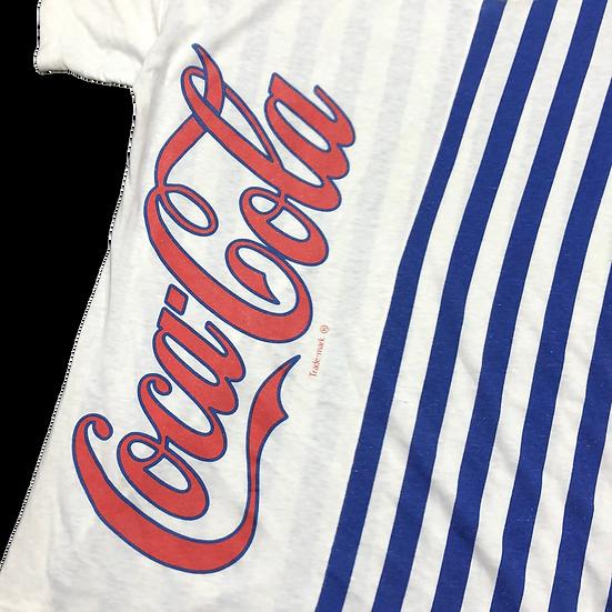 old コカ・コーラ stripe T-shirt / WHT BLU