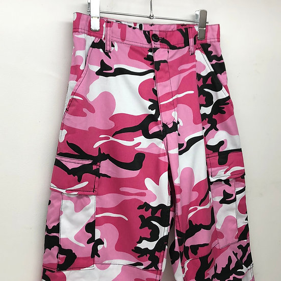 us military city camo cargo pants / PINK