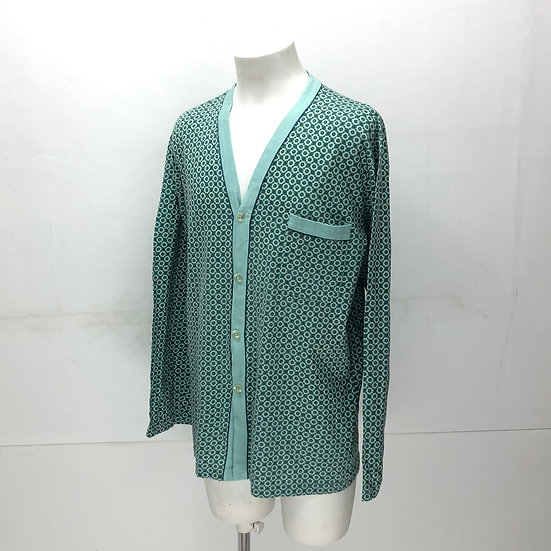 old italy cut&sew cardigan / mint green