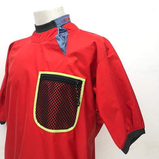 old patagonia lotus design kayak s/s jacket / RED