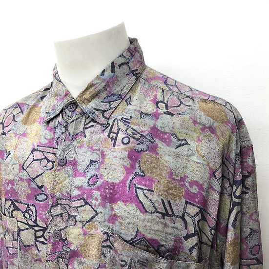 総柄 design shirt / multi