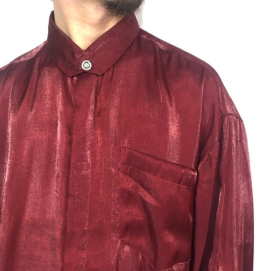 stand collar design shirt / W.RED