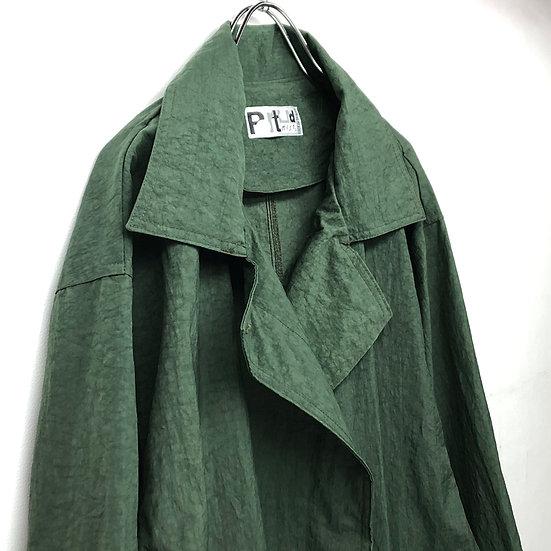 nylon balmacaan coat / GRN