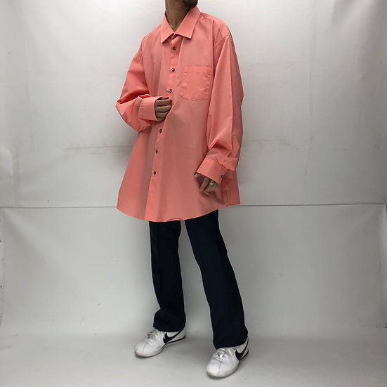 "van heusen ""big size"" plain shirt / PINK"