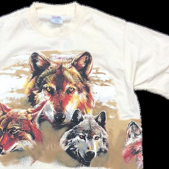 NOS wolf animal T-shirt / BEI