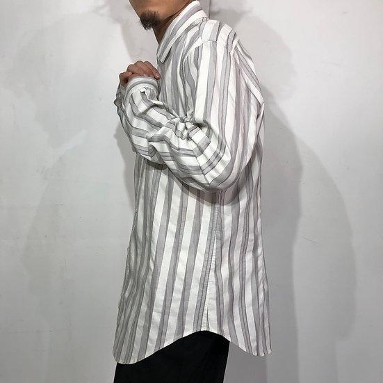 MISSONI design stripe shirt / WHT GRY