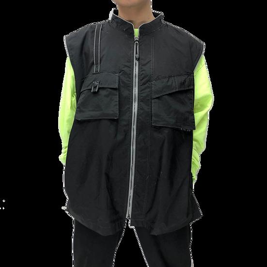 nylon design vest / BLK