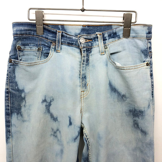 Levi's 505 bleach clash denim pants / BLU