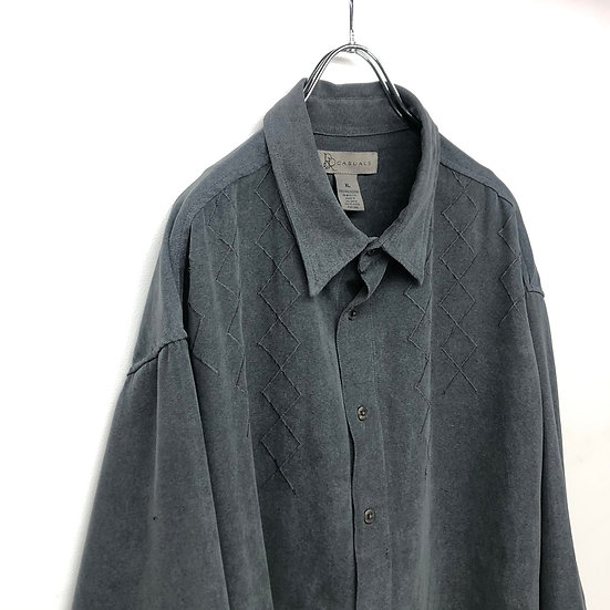 design fake suede shirt / GRY