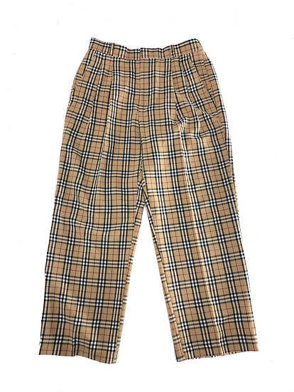 oscar plaid wide slacs / BEI