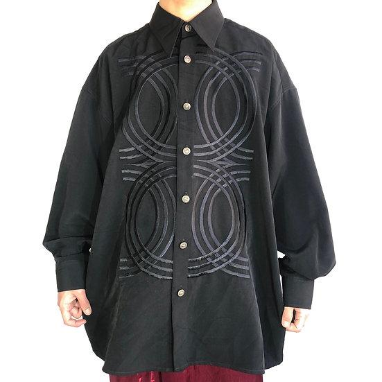 00's design shirt / BLK