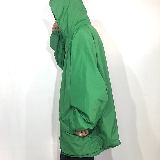old russell athletic hoodie coach jacket / GRN
