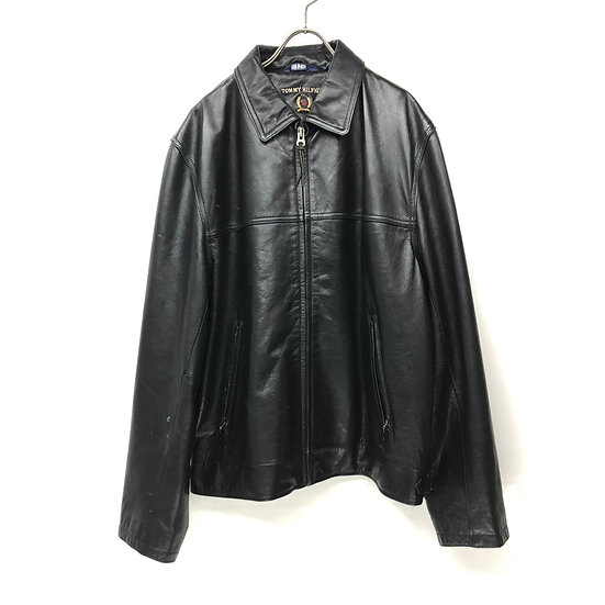 Tommy hilfiger leather swing top jacket / BLK