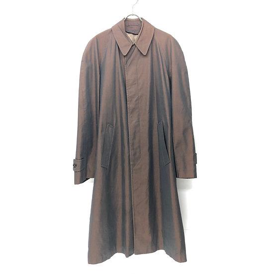 old 玉虫 balmacaan coat / BRN