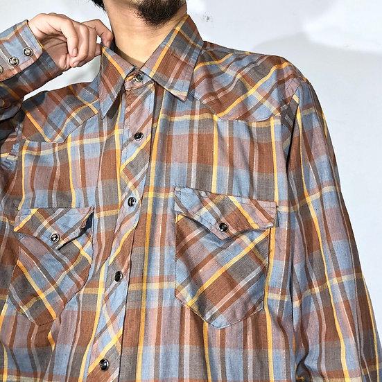 old wrangler western shirt / plaid