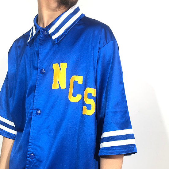 old athletic design s/s shirt / BLU