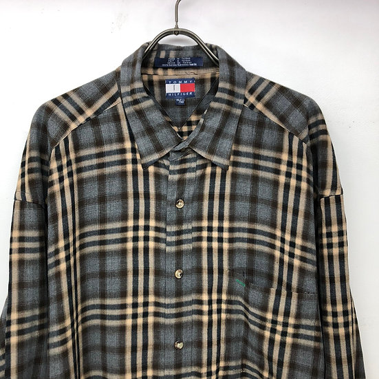 Tommy hilfiger plaid rayon shirt / GRY