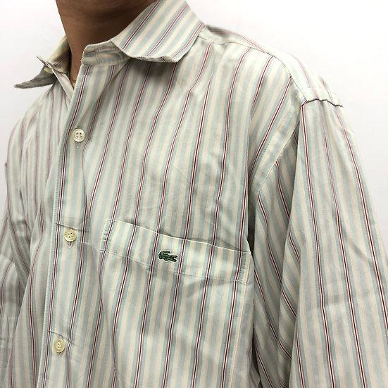LACOSTE stripe shirt / ivory