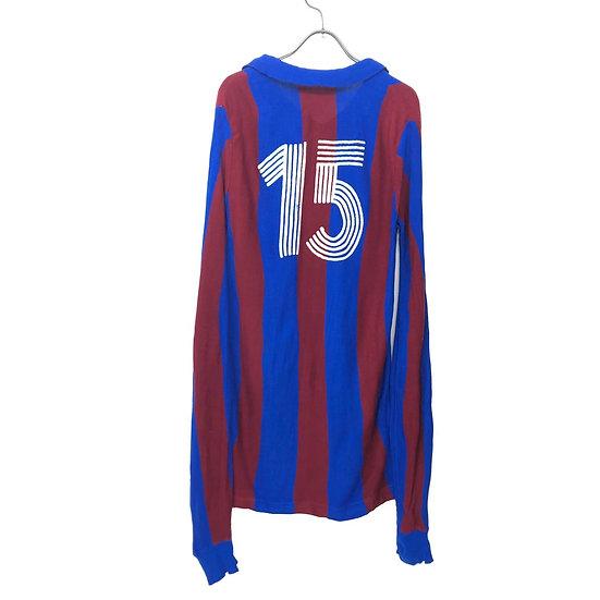 old uniform knit polo shirt / W.RED BLU