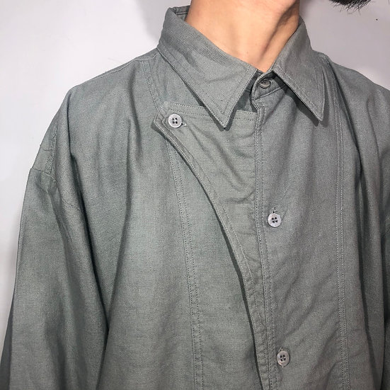 linen design shirt / GRY