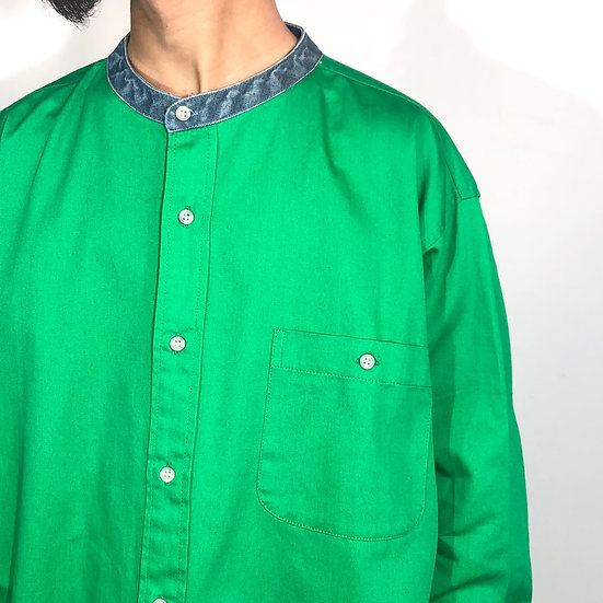 stand collar design shirt / GRN