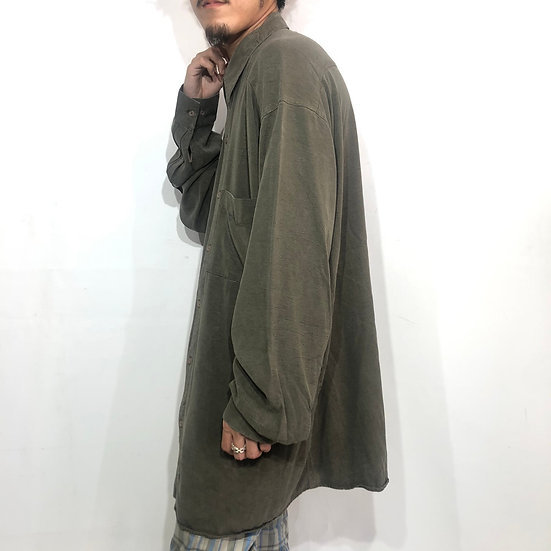 TIANELLO tencel plain shirt / KHAKI