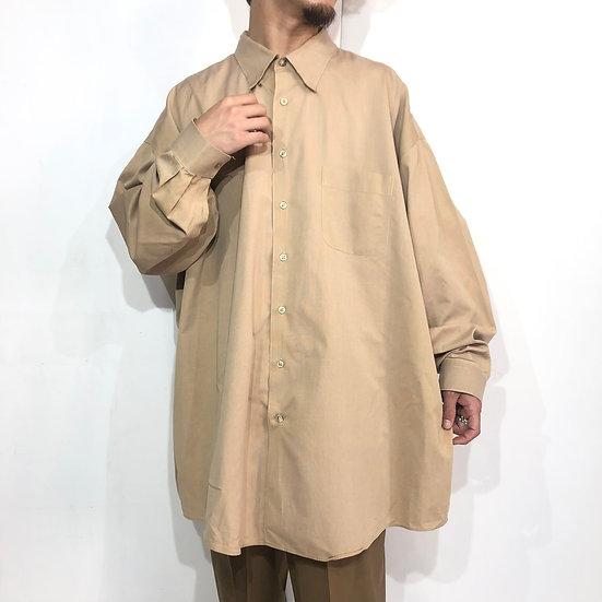 """big size"" plain shirt / BEI"