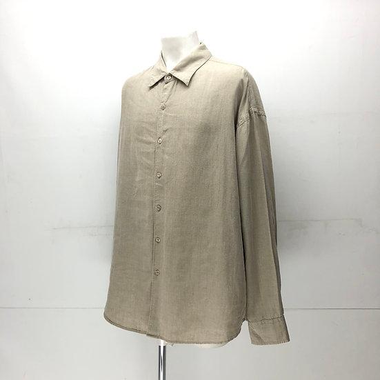 Geoferey beene linen shirt / BEI