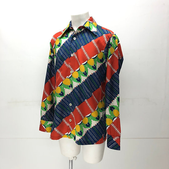 old polyester shirt / multi