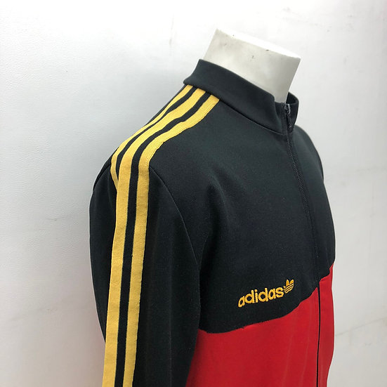 old adidas germany cycling jacket / BLK RED YEL
