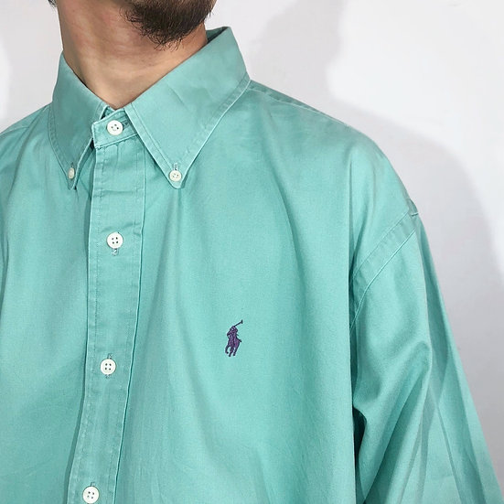 Ralph lauren shirt / light smocky green