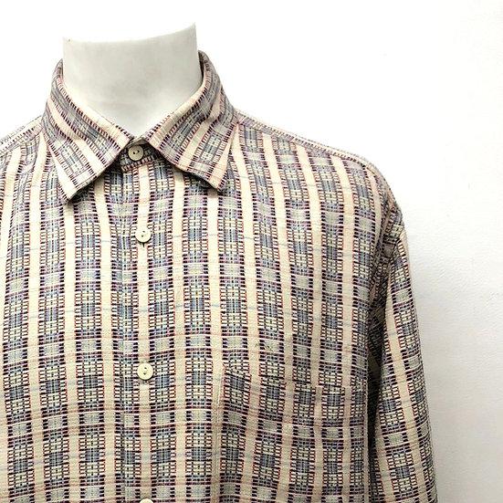 silk design shirt / BEI multi