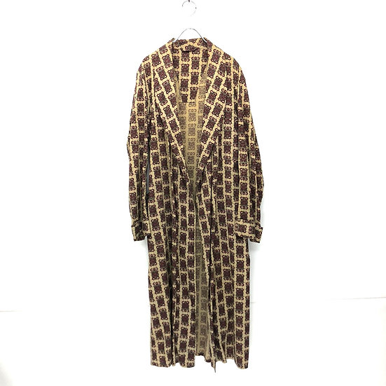 old emblem pattern gown / BEI