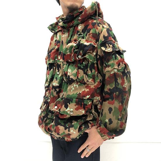 old swiss army alpen camo field jacket / alpen camo