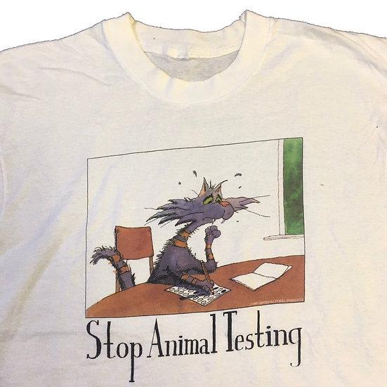 stop animal testing T-shirt / WHT