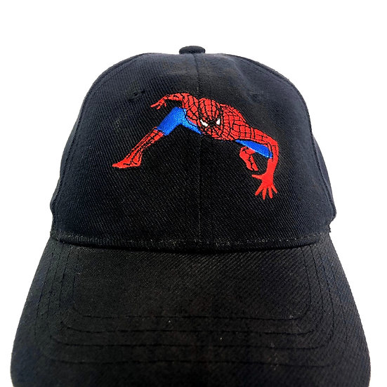 spider man 6panel cap / BLK