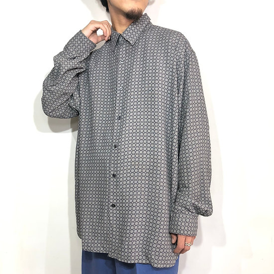 perry elliis design shirt / GRY