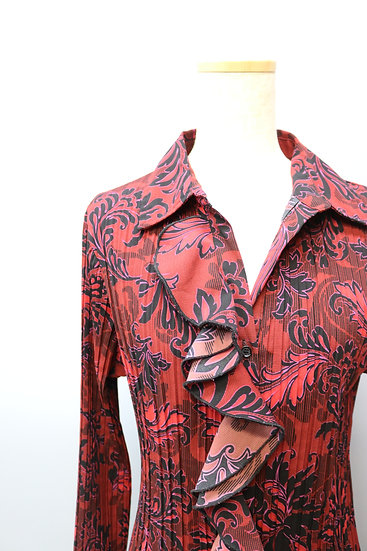 bell sleeve design blouse / REDの複製