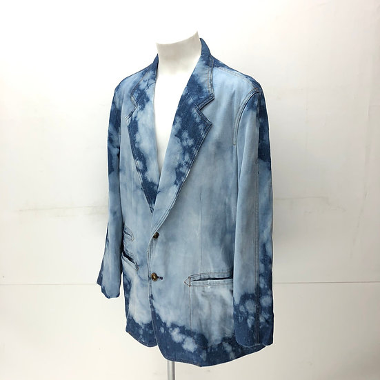 old lee bleach tailored jacket / denim