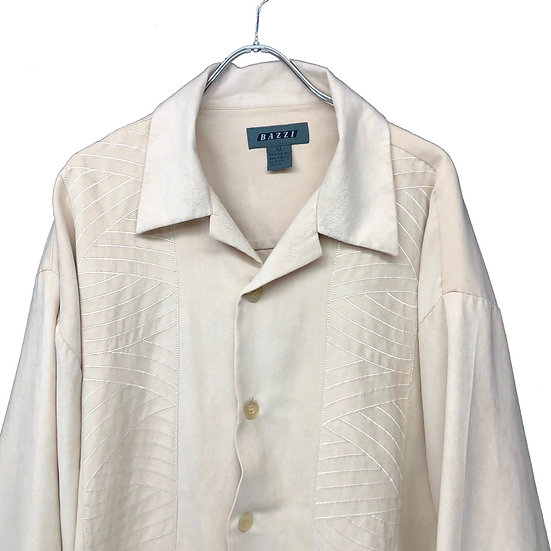 design fake suede shirt / BEI