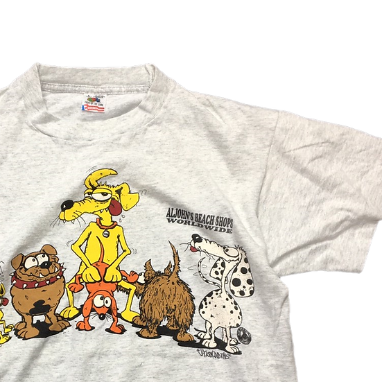 old crazy animal T-shirt / GRY
