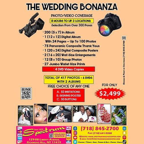 The Wedding Bonanza. Photo/Video Coverage. 300 Photos + 3 DVD's