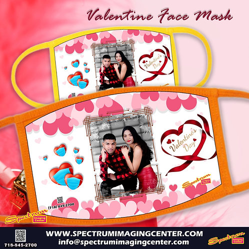Valentine Photo Face Mask