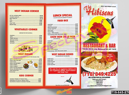 ATTRACTIVE RESTAURANT MENUS.