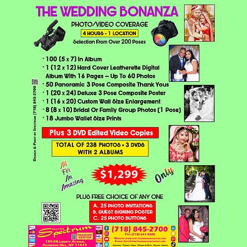 The Wedding Bonanza. Photo/Video Coverage. 200 Photos + 3 DVD's