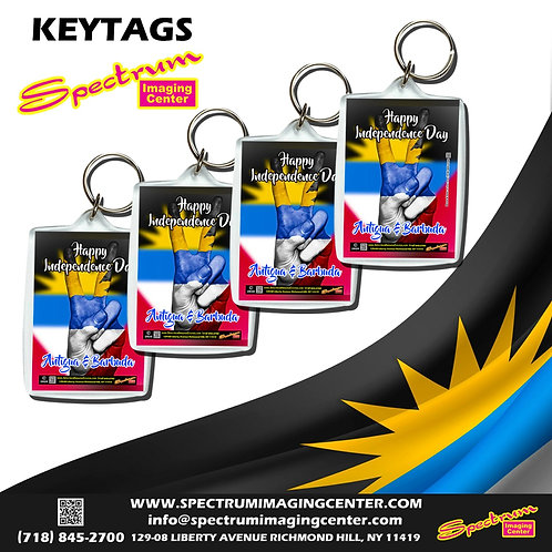 Happy Independence Day Antigua & Barbuda Keytags