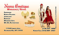 NEENA BOUTIQUE (BUSINESS CARD) FRONT (06