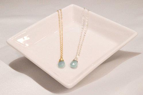 Aquamarine Small Pear